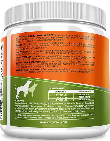 Zesty Paws Allergy Immune Supplement For Dogs