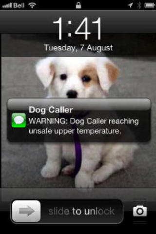 Text alert sent by The Dog Caller to dog owner: image via thestar.com