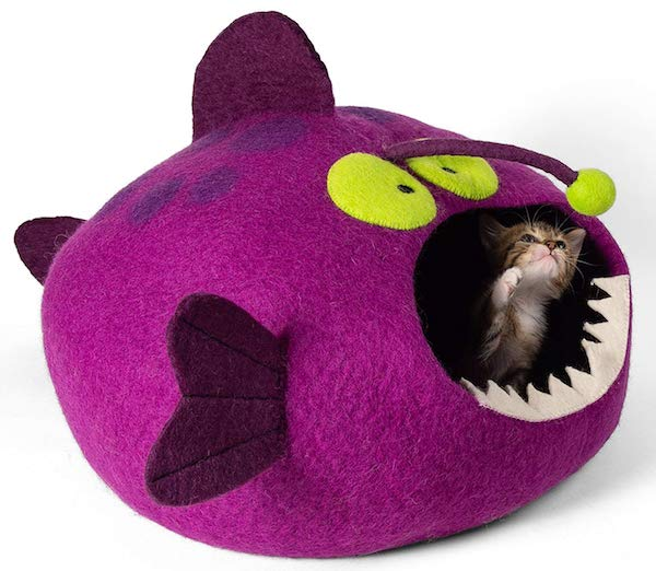 Twin Critters Anglerfish cat bed