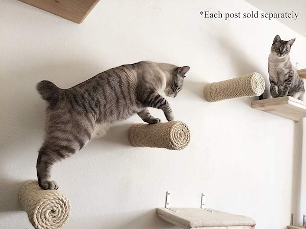 Floating Sisal Cat Post Steps