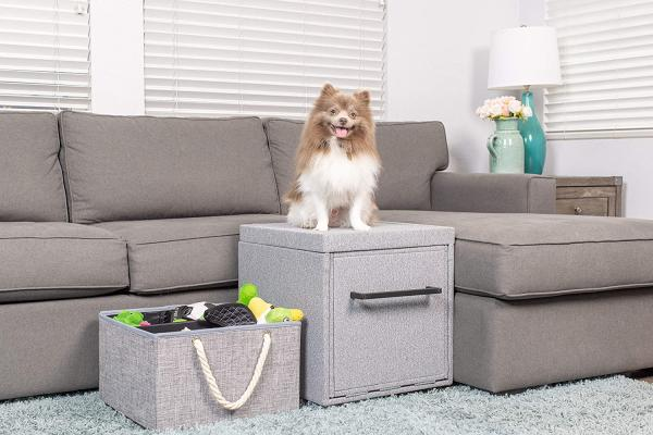 PetFusion Multi-Purpose Pet Step Ottoman & Pet Toy Storage Unit