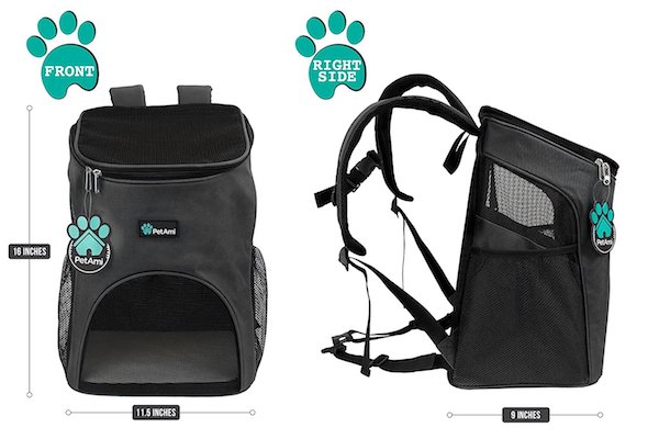 PetAmi Premium Pet Carrier Backpack for Cats and Small Dogs