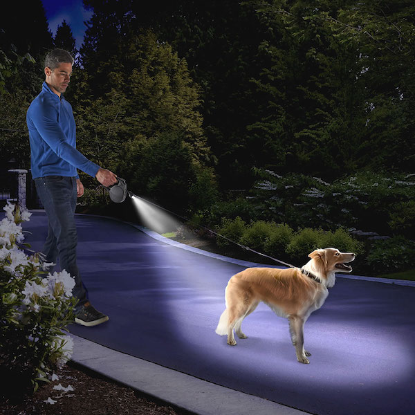 Dog Tracking Retractable Illuminated Leash