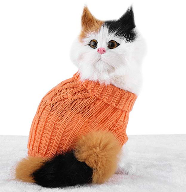 Filfeel Small Orange Cat Sweater