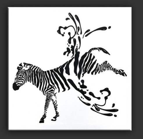 Abgestreift by Elsner: Stripped of stripes, Zebra art by Elsner