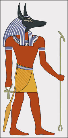 Hieroglyph Depiction of Anubis (Public Domain Image)