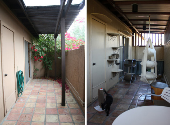 Before (left) and After (right): ©CatioShowcase.com