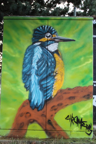 Bird by Chromers: Bird Graffiti Art by Chromers