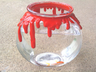Bloody Halloween Fish Bowl: Image by Etsy