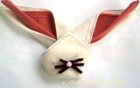 bunny napkin folding instructions