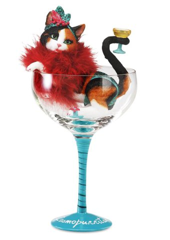 Cat Cocktail Glasses wine lovers cute gift: Cat Cocktail Glasses wine lovers cute gift