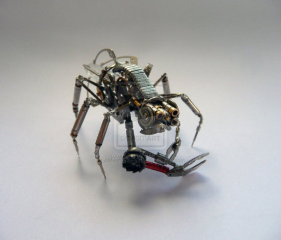 Crab Creature by Gates: This creature art is inspired by fiddler crabs, monkeys, grasshoppers and more according to Gates.