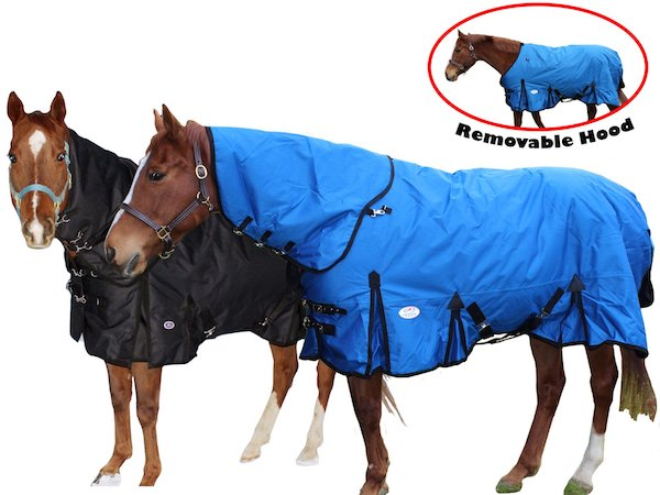 Derby Originals 1200D Turnout Blanket W/ Removable Hood