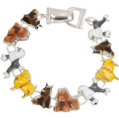 Adorable Enamel Dog Charm Bracelet Petslady