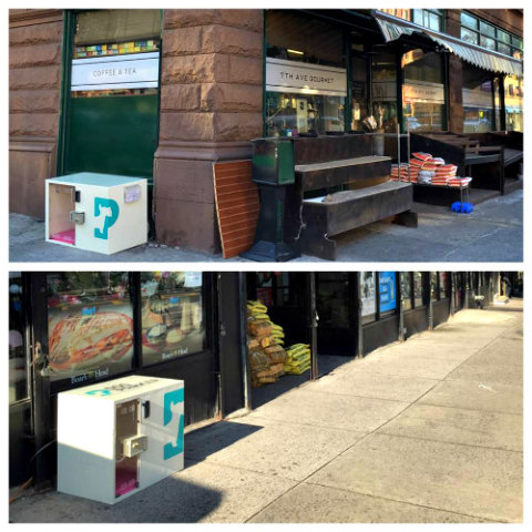 Dog Parker Security Waiting Station: Security dog crates can now be found in N.Y. (image via Facebook)