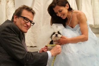 Baby Hope Diamond at her dress fitting: image via animalfair.com