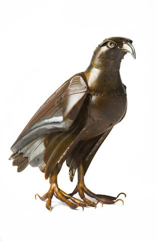 Falcon Art by Martinet: One of my favorite of Martinet's pieces, this falcon is probably not favored by most of his other sculptures!