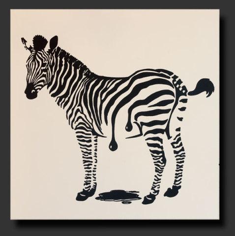 Frisch Gestrichen by Elsner: Careful! Wet paint! Zebra art of Elsner