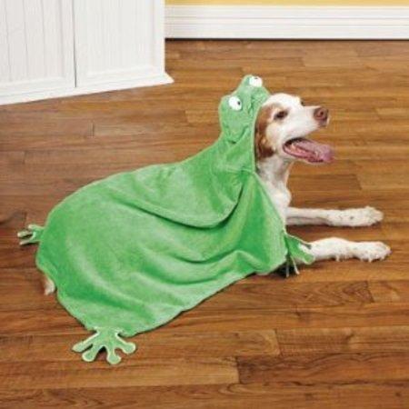 Frog Hooded Pet Towel