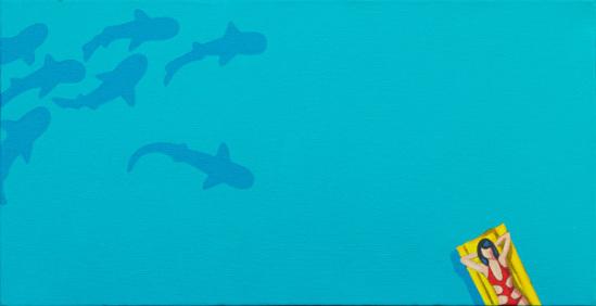 Fruehstueckpause by Elsner: Morning break, some shark ready for breakfast! Shark art by Elsner