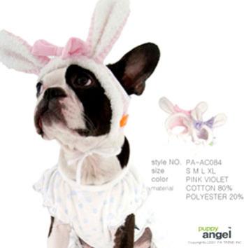 Dog Angel Bunny Bonnet