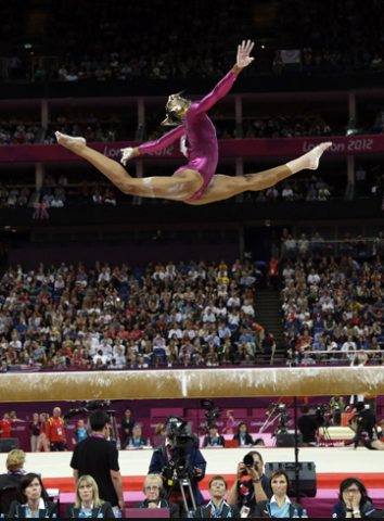 Cat head on Gabby Douglas' Body