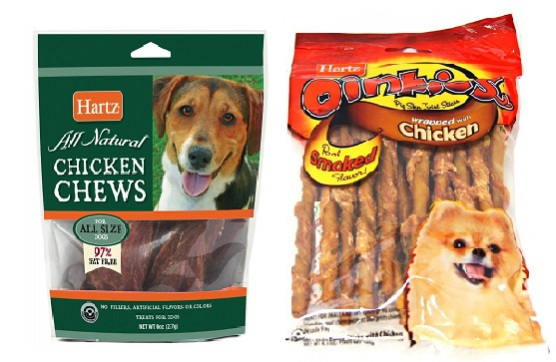 Hartz Chicken Chews & Hartz Oinkies Pig Skin Twists