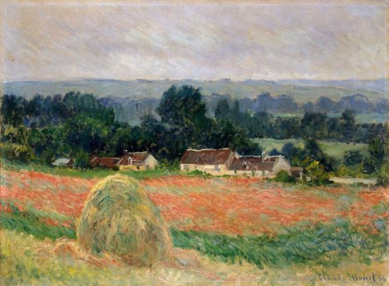 Haystack at Giverny, Claude Monet: image via arthermtage.org