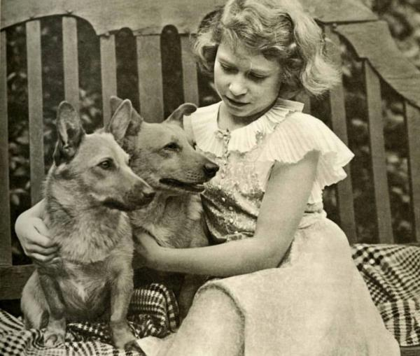 Princess Elizabeth with Dukie and Jane