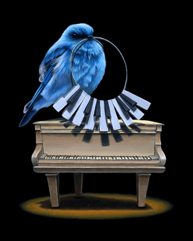 Keeper of the Keys by Gagnon: A real song bird painted by Jacub Gagnon