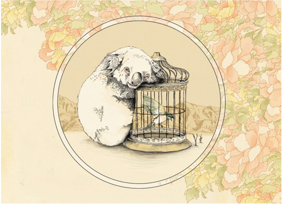 Koala Art by Barouch: There just isn't enough koala art out there. Don't forget the hummingbird in their either!