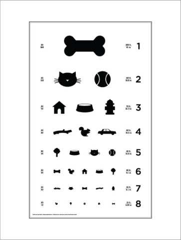 Dog Eye Chart by Local Paper Company