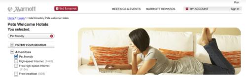 Marriott is Pet Friendly!