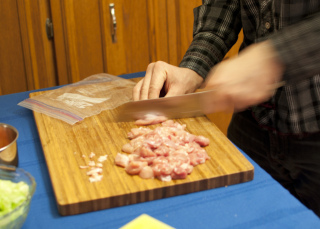 Meat Cutting Vigorously: Image by Riebart, Flickr