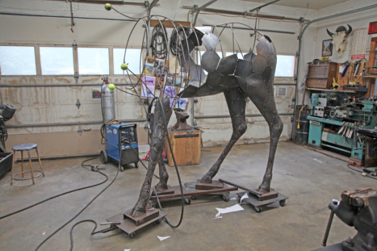 Williams Process Part Two: The body of the animal starts to take shape.