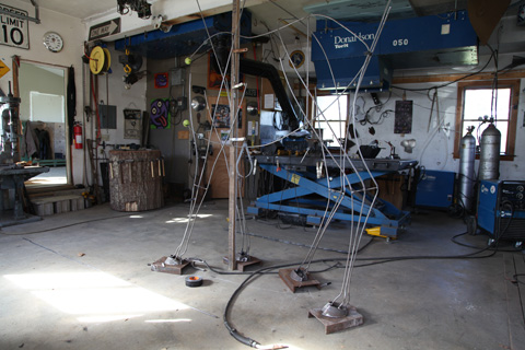 Williams Process Part One: Metal frame of the animal sculpture.
