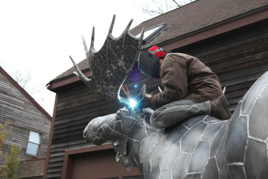 Williams Process Part Four: The animal art takes shape as Williams welds one of the finishing touches.
