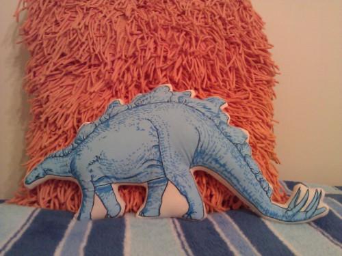 Hey- The Stegosaurus matches my comforter!