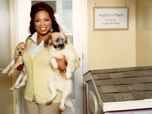 Oprah Winfrey and her pets: Source: Rollout.com