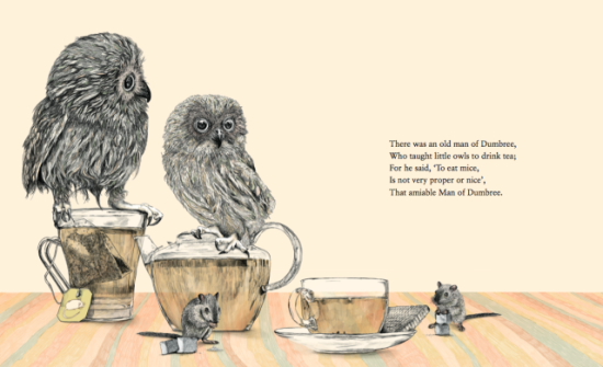 Owls and Mice by Barouch: These Owls are deciding to be more considerate of mice than most owls.