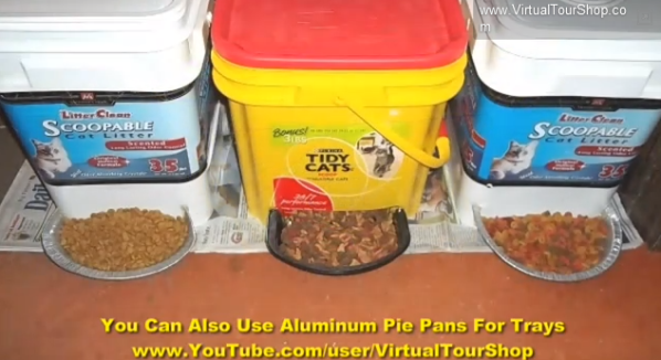 Using Cat Litter Container For Dog Food Storage