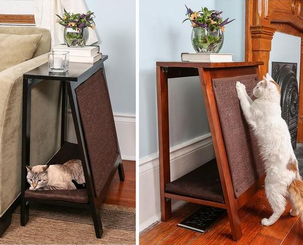 The Refined Feline A-Frame Cat Bed and Scratcher