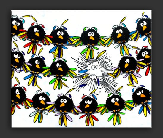 Schreckmauser by Elsner: Shock moulting! Som surprising bird art that pops by Elsner!