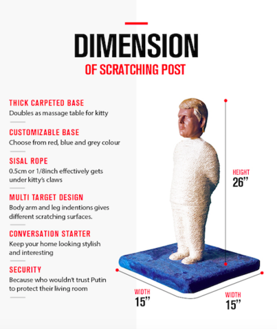 Donald Trump Scratching Post by PolitiKats