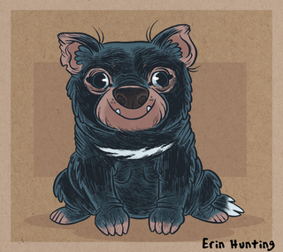 Tassie Devil by Hunting: An underappreciated animal, according to Hunting. Tasmanian devil art by Hunting.