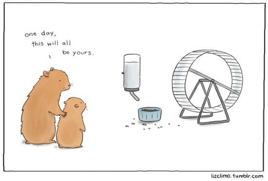 That'll Be a Good Day by Climo: Hamster Inheritance by Climo