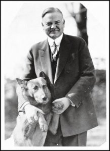 President Hoover and his dog, Tut: image via presidentialpetmuseum.com