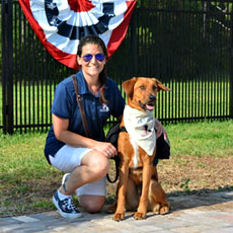 USAF service member Shilo and Javelin from K9s for Warriors: Image via K9s for Warriors