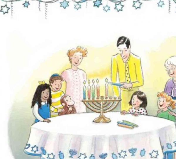 Happy Hanukkah Curious George