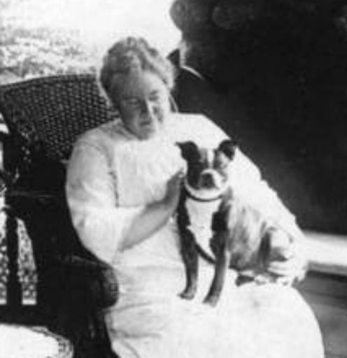 Lizzie Borden and One of Her Boston Terriers